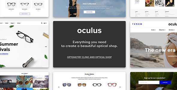 Wordpress Shop Template Oculus - Creative Sunglasses WooCommerce Shop