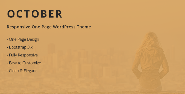 Wordpress Kreativ Template October - Responsive One Page WordPress Theme