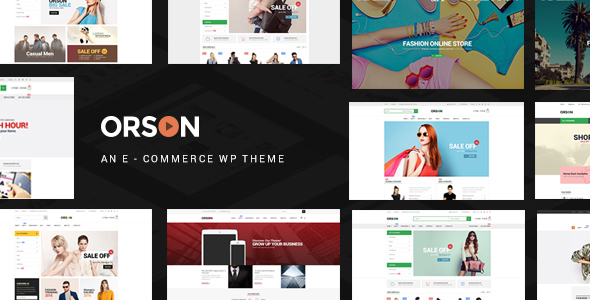 Wordpress Shop Template Orson - Innovative Ecommerce WordPress Theme for Online Stores