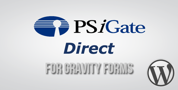 Wordpress E-Commerce Plugin PSiGate Direct Payment Gateway for Gravity Forms