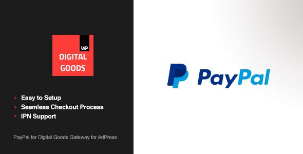 Wordpress Add-On Plugin PayPal Digital Goods Gateway - AdPress