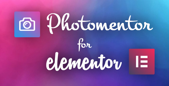 Wordpress Add-On Plugin Photomentor - Professional Photography Widgets for Elementor