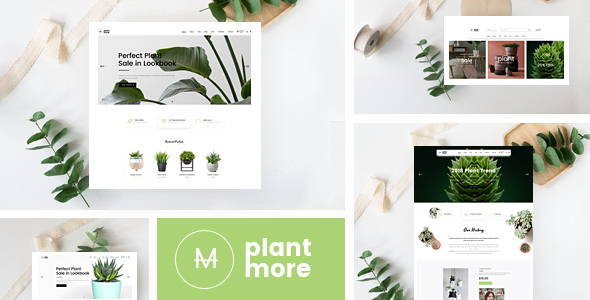 Wordpress Shop Template Plantmore - Responsive Theme for WooCommerce WordPress
