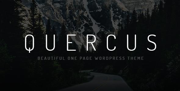 Wordpress Kreativ Template Quercus - Responsive One Page WordPress Theme