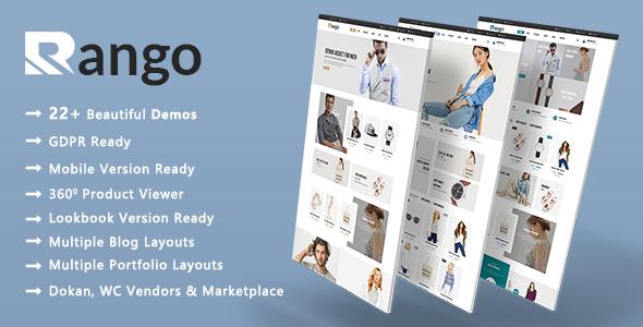 Wordpress Shop Template Rango - Modern Fashion WooCommerce WordPress Theme