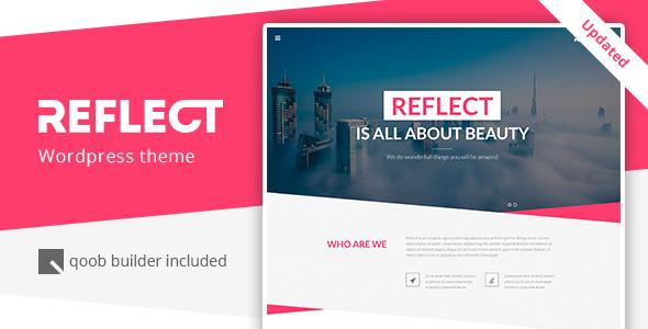 Wordpress Kreativ Template Reflect - Responsive One Page WordPress Theme