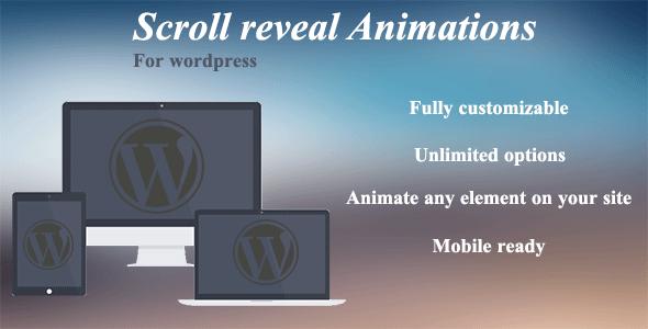 Wordpress E-Commerce Plugin Scroll reveal animations