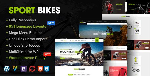 Wordpress Shop Template Sportbikes - Sports and Fitness Store WooCommerce WordPress Theme
