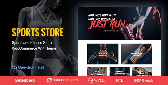 Wordpress Shop Template Sports Store