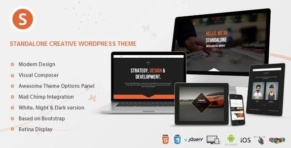 Wordpress Kreativ Template Standalone - Creative Portfolio WordPress Theme