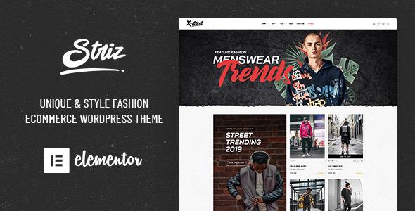 Wordpress Shop Template Striz - Fashion Ecommerce WordPress Theme