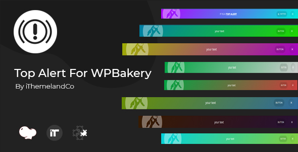 Wordpress Add-On Plugin Top Alert For WPBakery Page Builder (Visual Composer)
