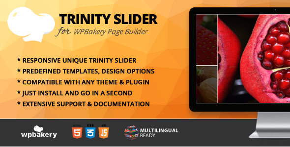 Wordpress Add-On Plugin Trinity Slider Addon for WPBakery Page Builder (formerly Visual Composer)