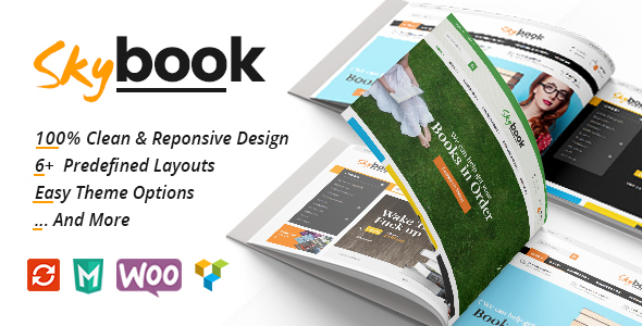 Wordpress Shop Template VG Skybook - WooCommerce Theme For Book Store