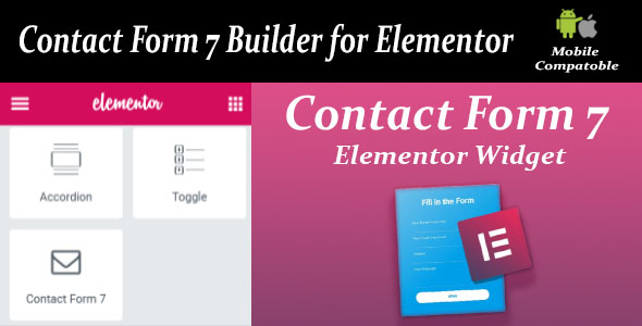 Wordpress Add-On Plugin Contact Form Seven CF7 Builder for Elementor