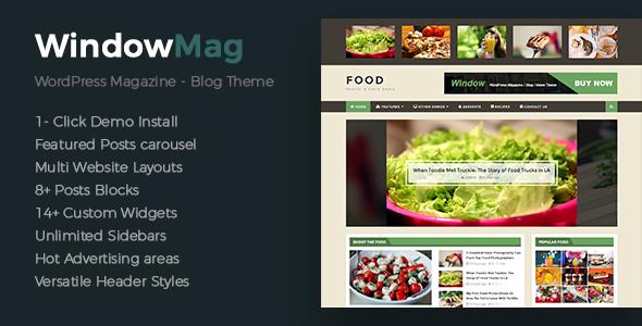 Wordpress Blog Template WindowMag - Responsive News / Magazine / Blog Theme