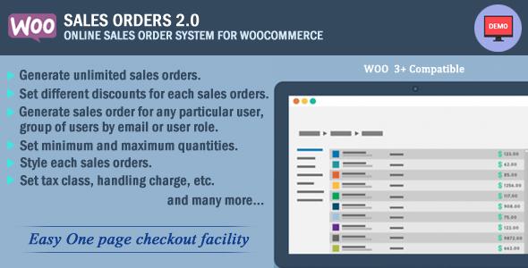 Wordpress E-Commerce Plugin Woocommerce Sales Orders
