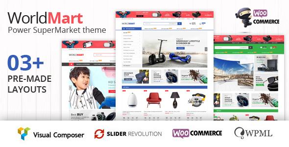 Wordpress Shop Template Worldmart - WooCommerce WordPress Theme