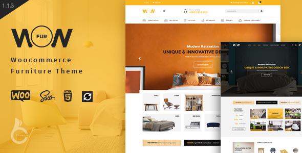 Wordpress Shop Template Wow - Furniture Marketplace Theme