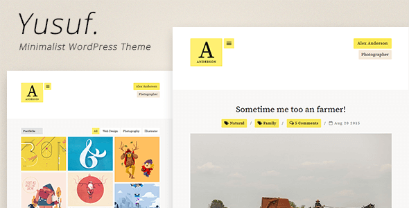 Wordpress Kreativ Template Yusuf - Minimalist WordPress Theme