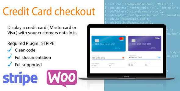 Wordpress E-Commerce Plugin Display a visual credit card on your checkout