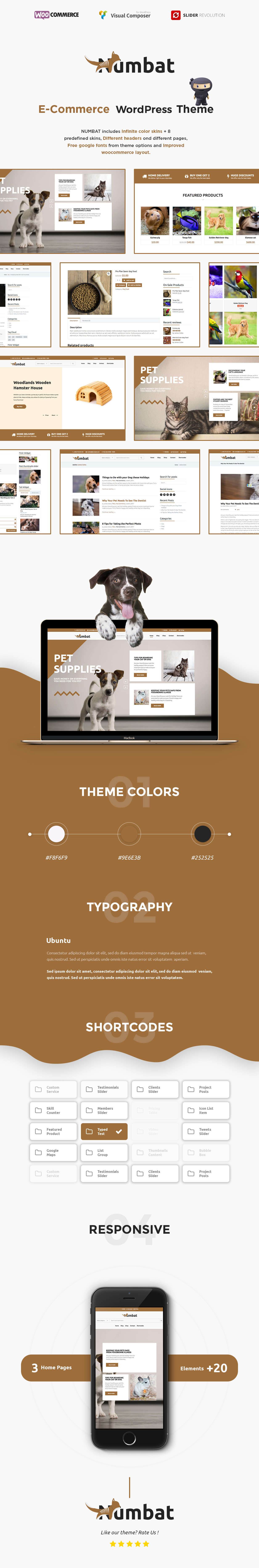 Numbat - Tierhandlung WooCommerce WordPress Theme - 2