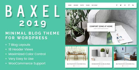 Baxel - Minimales Blog Layout für WordPress - Persönlicher Blog / Magazin