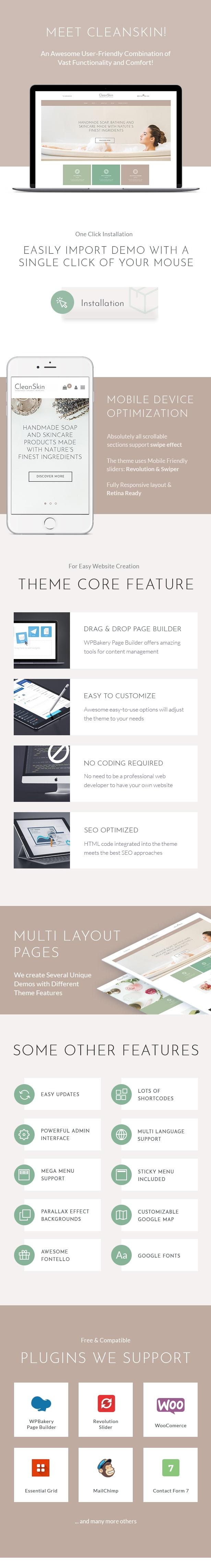 CleanSkin | Handgemachte Bio Seife & Naturkosmetik Shop WordPress Vorlage - 1