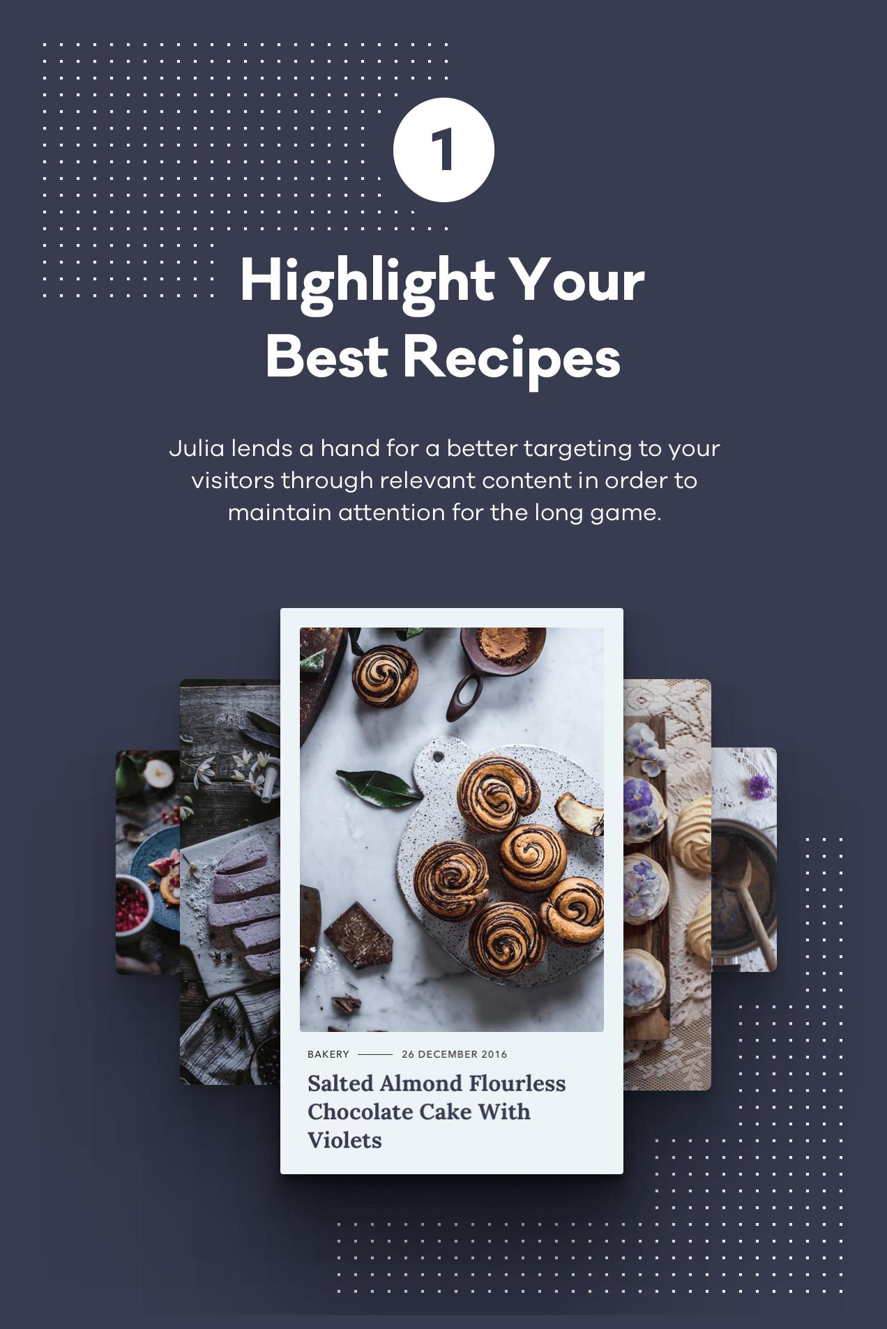 Julia - Ein Blog für beständiges Essen WordPress Template - 2