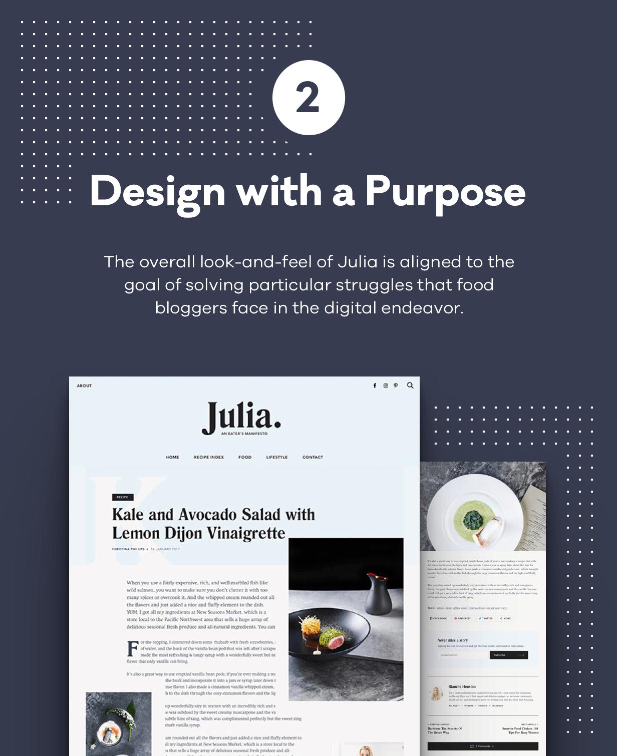 Julia - Ein Blog für beständiges Essen WordPress Template - 3