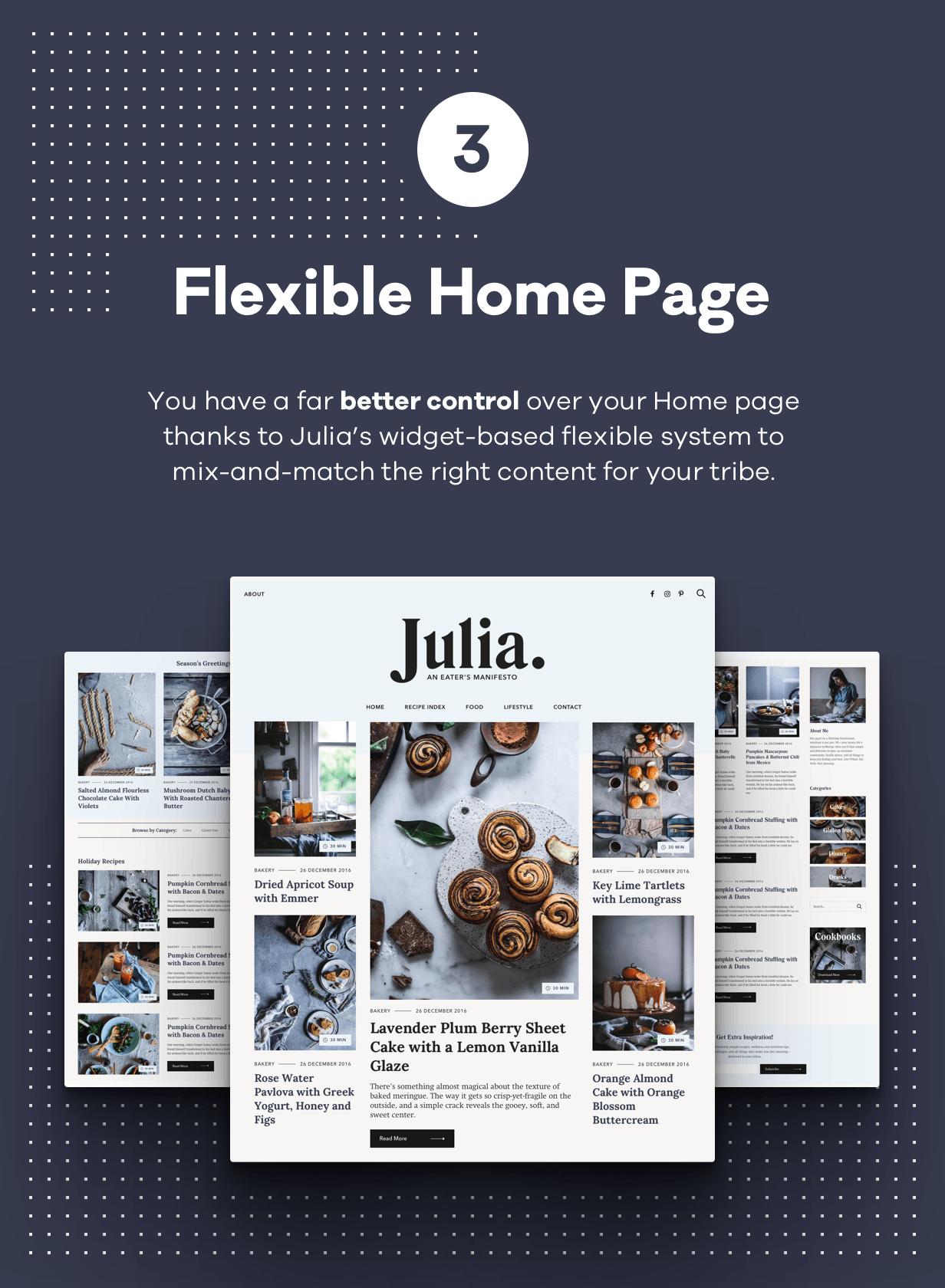 Julia - Ein Blog für beständiges Essen WordPress Template - 4