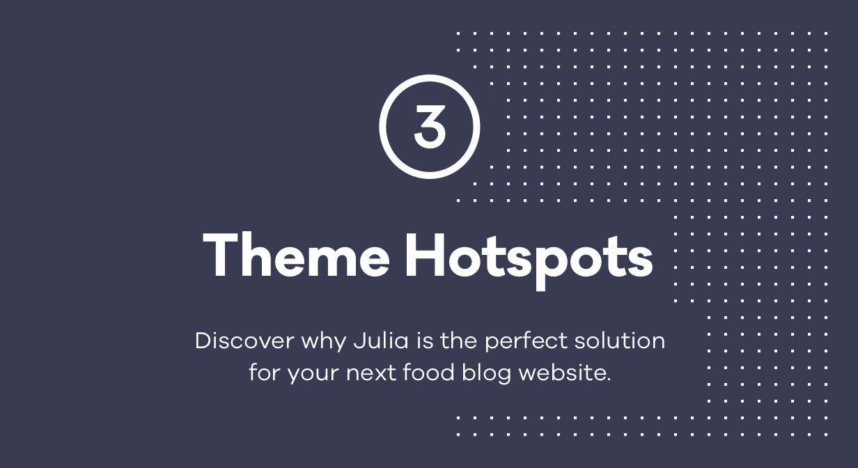 Julia - Ein Blog für beständiges Essen WordPress Template - 1