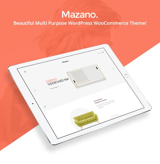 Mazano - Trendy Responsive WordPress Template - 3