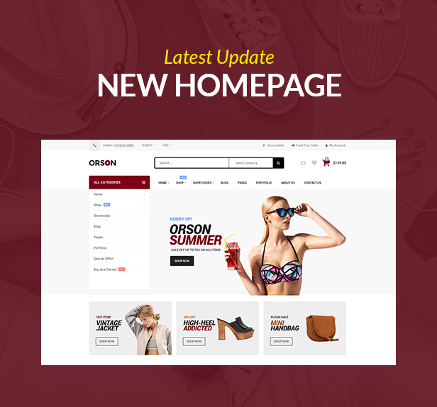 Orson - Innovatives E-Commerce-WordPress-Vorlage für Online-Shops - 1