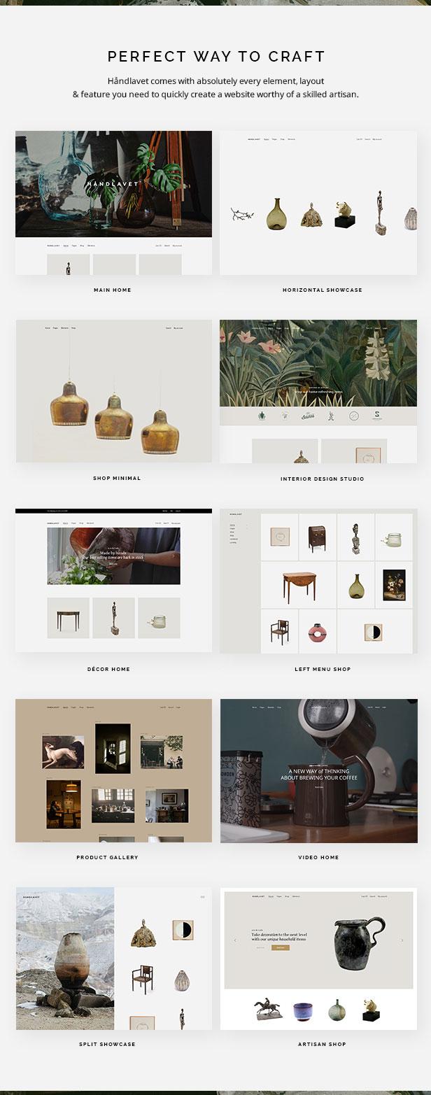 Håndlavet - Modernes E-Commerce-Thema - 1