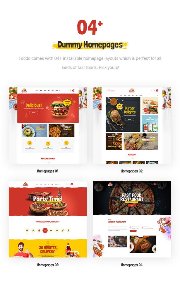 Foodo Homepages - Fast-Food-Restaurant WordPress Theme