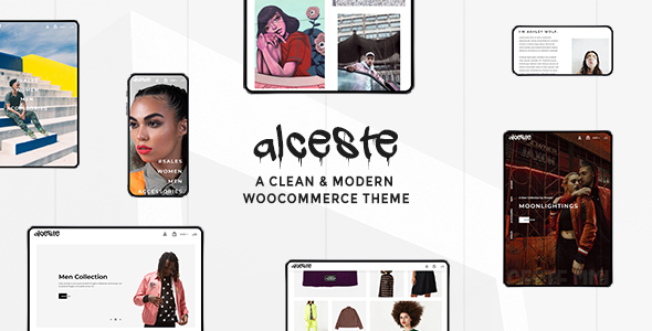 Wordpress Shop Template Alceste - A Clean and Modern WooCommerce Theme