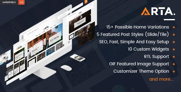 Wordpress Blog Template Arta - Simple and Clean WordPress Theme