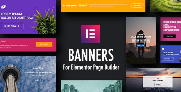 Wordpress Add-On Plugin Banners Widgets for Elementor Page Builder