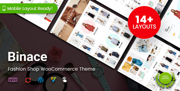 Wordpress Shop Template Binace - Fashion Shop WordPress WooCommerce Theme