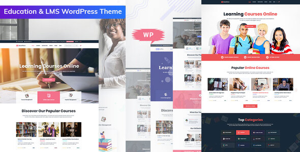 Wordpress BILDUNG Template Bookflare - A Modern Education & LMS WordPress Theme