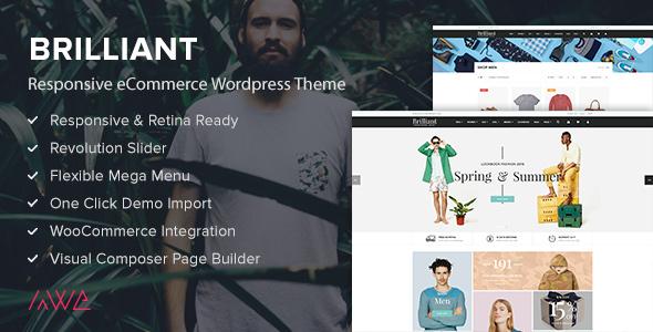 Wordpress Shop Template Brilliant - Responsive eCommerce WordPress Theme