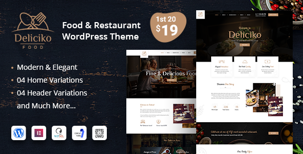 Wordpress Entertainment Template Deliciko - Restaurant WordPress Theme