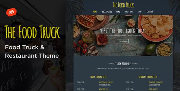 Wordpress Entertainment Template The Food Truck - WordPress Theme