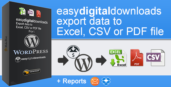 Wordpress E-Commerce Plugin EasyDigitalDownloads Export