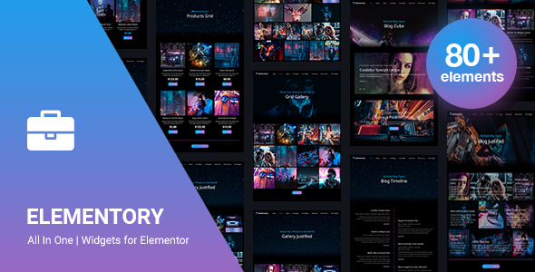 Wordpress Add-On Plugin Elementory - All In One | Widgets for Elementor
