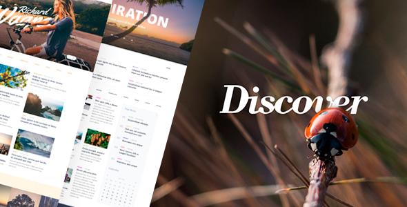 Wordpress Blog Template Discover - Travel & Lifestyle MultiConcept Blog Theme