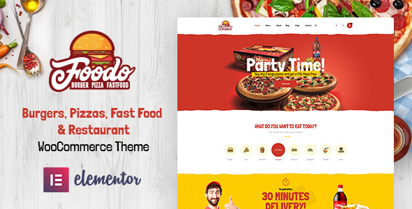 Wordpress Shop Template Foodo - Fast Food Restaurant WordPress Theme