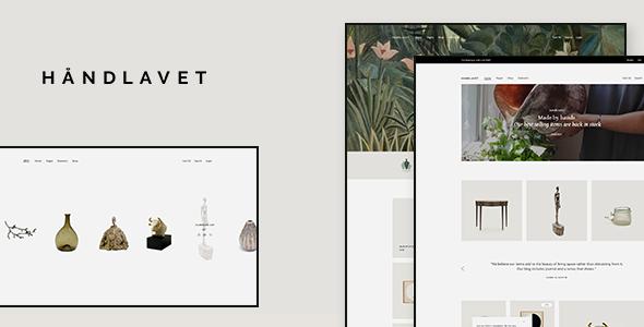 Wordpress Shop Template Håndlavet - Modern eCommerce Theme