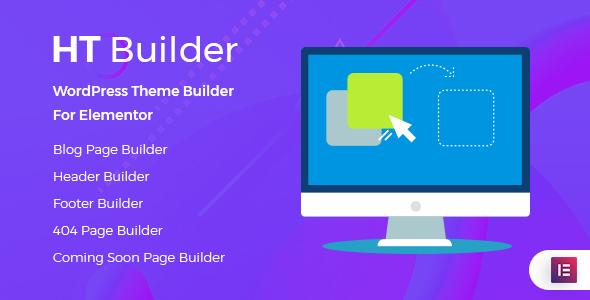 Wordpress Add-On Plugin HT Builder Pro  - WordPress Theme Builder for Elementor